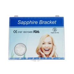 Dental Monocrystalline Crystal Sapphire Clear Orthodontic Brackets Braces Roth 022 3 4 5 Hooks