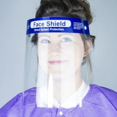 Full Face Shield Visor Clear Flip-up Visor Covering Eye Protector Anti-Fog Dust