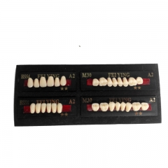 Dental Denture Synthetic Resin Teeth False Teeth Upper / Lower Shade A2/A3